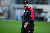 Head Coach Ceri Jones of Dragons in action during the Guinness Pro14 round 12 match between the Dragons and the Ospreys at Rodney Parade in Newport, Wales, UK. Sunday 30 December 2018