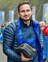 Frank Lampard Manager of Chelsea arriving on the coach the Premier League match between Brighton and Hove Albion and Chelsea at the American Express Community Stadium, Brighton and Hove, England on 1 January 2020. Photo by Edward Thomas / PRiME Media Images.