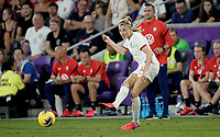 ORLANDO, FL - MARCH 05: Leah Williamson #14 of England passes the ball off during a game between England and USWNT at Exploria Stadium on March 05, 2020 in Orlando, Florida.