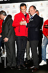 Real Madrid player Ricardo Carvalho participates and recives new Audi during the presentation of Real Madrid's new cars made by Audi at the Jarama racetrack on November 8, 2012 in Madrid, Spain.(ALTERPHOTOS/Harry S. Stamper)