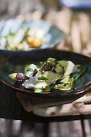 Europe/France/Provence-Alpes-Côte d'Azur/13/Bouches-du-Rhône/Env d'Arles/Le Sambuc: Muge en aïoli légumes du  potager, recette d'Armand Arnal du Restaurant Bio: La Chassagnette