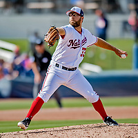 7 March 2019: Washington Nationals pitcher Matt Grace on the mound during a Spring Training Game against the New York Mets at the Ballpark of the Palm Beaches in West Palm Beach, Florida. The Nationals defeated the visiting Mets 6-4 in Grapefruit League, pre-season play. Mandatory Credit: Ed Wolfstein Photo *** RAW (NEF) Image File Available ***