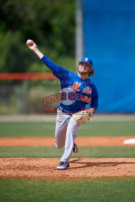 New York Mets pitcher Thomas McIlraith (69) during a Minor League Spring Training intrasquad game on March 29, 2018 at the First Data Field Complex in St. Lucie, Florida.  (Mike Janes/Four Seam Images)