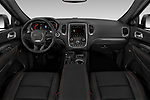Stock photo of straight dashboard view of a 2019 Dodge Durango R/T RWD 5 Door SUV