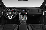 Stock photo of straight dashboard view of 2018 Volvo S60 R-Design 4 Door Sedan Dashboard