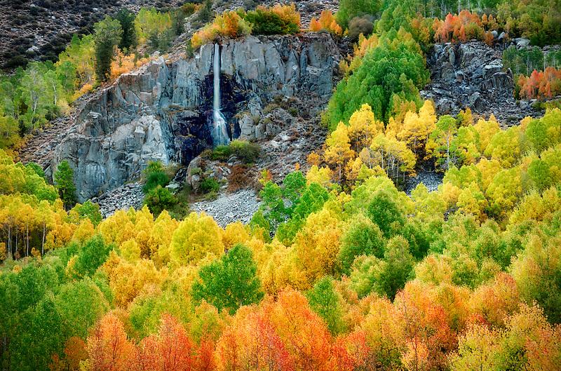 Small seasonal waterfall. Bishop Canyon. California