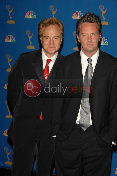 Bradley Whitford and Matthew Perry<br />in the Press Room at the 58th Annual Primetime Emmy Awards. The Shrine Auditorium, Los Angeles, CA. 08-27-06<br />Scott Kirkland/DailyCeleb.com 818-249-4998