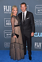 SANTA MONICA, USA. January 12, 2020: Molly Sims & Scott Stuber at the 25th Annual Critics' Choice Awards at the Barker Hangar, Santa Monica.<br /> Picture: Paul Smith/Featureflash