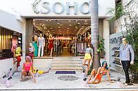 Clothing and Beachwear Store, Playa del Carmen, Riviera Maya, Yucatan, Mexico.