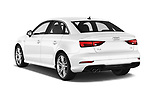 Car pictures of rear three quarter view of 2017 Audi A3 S-Line 4 Door Sedan Angular Rear