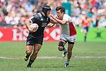 New Zealand vs Japan during their Pool C match as part of the HSBC Hong Kong Rugby Sevens 2017 on 08 April 2017 in Hong Kong Stadium, Hong Kong, China. Photo by Marcio Rodrigo Machado / Power Sport Images