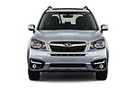 Car photography straight front view of a 2018 Subaru Forester 2.5i-Limited-CVT 5 Door SUV Front View