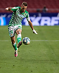 Sergio Canales (Real Betis) controls the ball during  La Liga match round 36 between Atletico de Madrid and Real Betis Balompie at Wanda Metropolitano Stadium in Madrid, Spain, as the season resumed following a three-month absence due to the novel coronavirus COVID-19 pandemic. Jul 11, 2020. (ALTERPHOTOS/Manu R.B.)