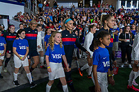 ORLANDO, FL - MARCH 05: Abby Dahlkemper #7 and Julie Ertz #8 of the United States walk out during a game between England and USWNT at Exploria Stadium on March 05, 2020 in Orlando, Florida.