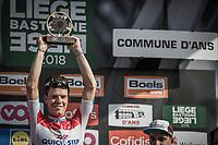 Bob Jungels (LUX/Quick Step Floors) wins the 104th Liège - Bastogne - Liège 2018 (1.UWT)<br /> <br /> 1 Day Race: Liège - Ans (258km)