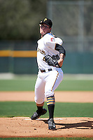 GCL Pirates relief pitcher Jacob Taylor (45) during a game against the GCL Yankees East on August 15, 2016 at the Pirate City in Bradenton, Florida.  GCL Pirates defeated GCL Yankees East 5-2.  (Mike Janes/Four Seam Images)