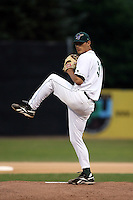September 6 2008:  Pitcher Skylar Crawford of the Jamestown Jammers, Class-A affiliate of the Florida Marlins, during a game at Russell Diethrick Park in Jamestown, NY.  Photo by:  Mike Janes/Four Seam Images