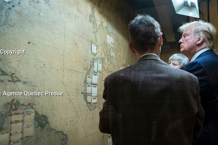 President Trump Tours the Churchill War Rooms<br /> <br /> President Donald J. Trump and First Lady Melania Trump, along with British Prime Minister Theresa May and her husband Mr. Philip May tour the Churchill War Rooms Tuesday, June 4, 2019, in London. (Official White House Photo by Shealah Craighead)