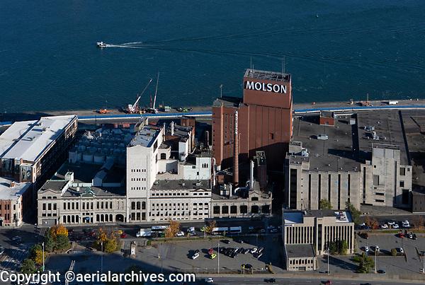 aerial photograph of the Molson Brewery, Montreal, Quebec, Canada | photographie aérienne de la brasserie Molson, Montréal, Québec, Canada