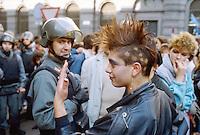 - Milan, student demonstration (November 1985)....- Milano, manifestazione studentesca  (novembre1985)