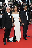 CANNES, FRANCE. July 7, 2021: Andre Dussollier, Sophie Marceau & director Francois Ozon at the Everything Went Fine Premiere at the 74th Festival de Cannes.<br /> Picture: Paul Smith / Featureflash