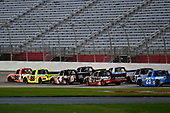 2017 NASCAR Camping World Truck Series - Active Pest Control 200<br /> Atlanta Motor Speedway, Hampton, GA USA<br /> Saturday 4 March 2017<br /> Grant Enfinger and Matt Crafton<br /> World Copyright: Nigel Kinrade/LAT Images<br /> ref: Digital Image 17ATL1nk06577