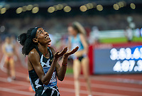 10th June 2021; Stadio Luigi Ridolfi, Florence, Tuscany, Italy; Muller Diamond League Grand Prix Athletics, Florence andRome; Sifan Hassan looks to the skies after winning the women's 1500m