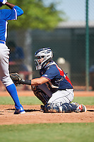 Cleveland Indians Gianpaul Gonzalez (6) during an Instructional League game against the Kansas City Royals on October 11, 2016 at the Cleveland Indians Player Development Complex in Goodyear, Arizona.  (Mike Janes/Four Seam Images)