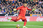 Goalkeeper Diego Alves Carreira of Valencia CF in action during their La Liga match between Valencia CF and Real Madrid at the Estadio de Mestalla on 22 February 2017 in Valencia, Spain. Photo by Maria Jose Segovia Carmona / Power Sport Images