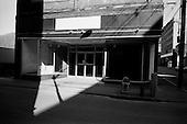 Logan, West Virginia.USA .January 15, 2005..Abandon store on main street.