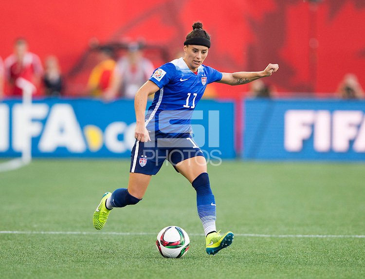 Winnipeg, Canada - June 12, 2015: The USWNT tied Sweden 0-0 at their second group game during the FIFA Women's World Cup.