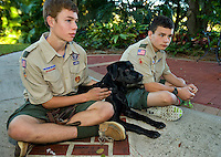 Year-long photography of the puppy raising experience for a guide dog in training. Documentary photo story will show puppy Kajsa from when she is picked up by her puppy raising family (from the Southeastern Guide Dog school in Florida), through her first 18 months of life being raised in Charlotte NC, then back to Florida where she could be matched with a blind person or wounded veteran needing guide dog support.<br /> <br /> Charlotte Photographer - PatrickSchneiderPhoto.com
