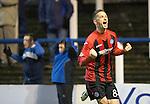 Morton v St Johnstone....30.10.13   Scottish League Cup Quarter Final<br /> Gary McDonald celebrates scoring the late winner<br /> Picture by Graeme Hart.<br /> Copyright Perthshire Picture Agency<br /> Tel: 01738 623350  Mobile: 07990 594431