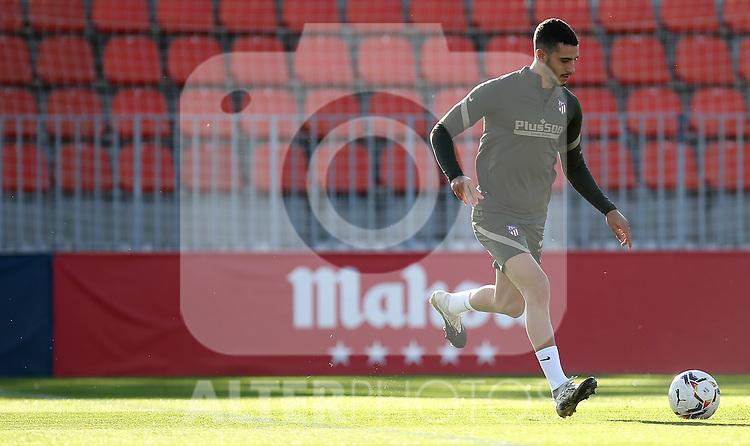 Atletico de Madrid's Mario Hermoso during training session. October 7,2020.(ALTERPHOTOS/Atletico de Madrid/Pool)