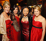 Seliece Caldwell Fulweber, Jessica Rossman, Miya Shay and Allie Thompson at the American Heart Association Heart Ball at the Hilton Americas Houston Saturday Feb 07, 2009.(Dave Rossman/For the Chronicle)