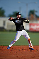 Casey Saucke II (6) during the WWBA World Championship at Lee County Player Development Complex on October 8, 2020 in Fort Myers, Florida.  Casey Saucke II, a resident of Rochester, New York who attends Greece Athena High School, is committed to Virginia.  (Mike Janes/Four Seam Images)