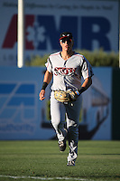 Nick Torres (13) of the Lake Elsinore Storm in the field during a game against the Lancaster JetHawks at The Hanger on August 29, 2015 in Lancaster, California. Lancaster defeated Lake Elsinore 7-4. (Larry Goren/Four Seam Images)