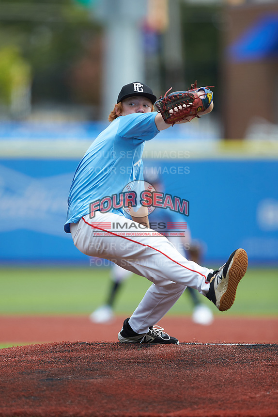 Chase Swift (4) of Thomas Dale High School in Chester, VA during the Atlantic Coast Prospect Showcase hosted by Perfect Game at Truist Point on August 23, 2020 in High Point, NC. (Brian Westerholt/Four Seam Images)