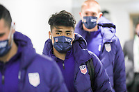 WIENER NEUSTADT, AUSTRIA - NOVEMBER 16: Ulysses Llanez Jr #21 of the United States men's national team before a game between Panama and USMNT at Stadion Wiener Neustadt on November 16, 2020 in Wiener Neustadt, Austria.