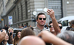 Guests at the Salvatore Ferragamo Fashion Show during the Milan's Fashion Week Women's wear Spring Summer 2019, in Milan on September 22, 2018. Armie Hammer