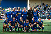 Seattle, WA - Wednesday, June 28, 2017: Seattle Reign FC starting eleven during a regular season National Women's Soccer League (NWSL) match between the Seattle Reign FC and the Chicago Red Stars at Memorial Stadium.