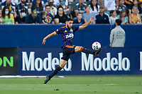 CARSON, CA - JUNE 19: Alex Roldan #16 of the Seattle Sounders FC reaches for a ball during a game between Seattle Sounders FC and Los Angeles Galaxy at Dignity Health Sports Park on June 19, 2021 in Carson, California.