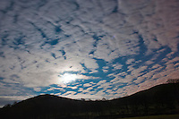 Night sky with clouds, Whitewell, Lancashire.