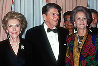 Nancy & Ronald Reagan & Katherine Graham  1991Photo by Adam Scull-PHOTOlink.net
