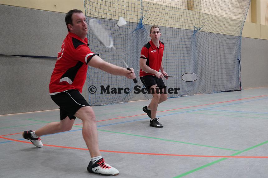 Doppel 2. Mannschaft Janosch Kreuz, Benjamin Grimm - Mörfelden-Walldorf 09.02.2020: RW Walldorf Badminton