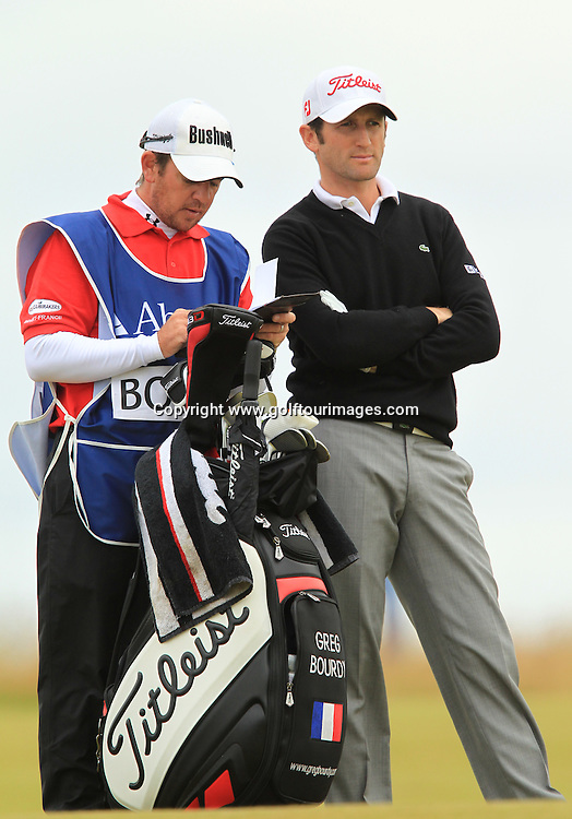Gregory Bourdy ( FRA)  during the third round of the 2012 Aberdeen Asset Management Scottish Open being played over the links at Castle Stuart, Inverness, Scotland from 12th to 15th July 2012:  Stuart Adams www.golftourimages.com:14th July 2012