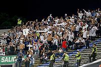 MEDELLIN - COLOMBIA, 17-09-2021: Hinchas del Medellín animan a su equipo durante partido por la fecha 10 entre Deportivo Independiente Medellín y Once Caldas como parte de la Liga BetPlay DIMAYOR II 2021 jugado en el estadio Atanasio Girardot de la ciudad de Medellín. / Fans of Medellin cheer for their team during Match for the date 10 between Deportivo Independiente Medellin and Once Caldas as part of the BetPlay DIMAYOR League II 2021 played at Atanasio Girardot stadium in Medellin city. Photo: VizzorImage / Donaldo Zuluaga / Cont