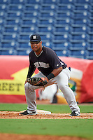 New York Yankees Bo Thompson (91) during an instructional league game against the Philadelphia Phillies on September 29, 2015 at Brighthouse Field in Clearwater, Florida.  (Mike Janes/Four Seam Images)