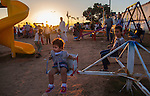 MISRATA, LIBYA — <br /> <br /> Families enjoy an evening at a local recreation park next to Misrata's main open-air market.  Despite it's proximity to Sirte, ISIS's main area of control, Misrata is one of the most stable cities in the country and signs of normal life are slowly returning.