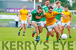 Tomas Lynch, St. Kieran's in action against Mike O'Leary, South Kerry in the game between St Kierans and South Kerry in the Kerry Senior football championship at Austin Stack Park on Sunday.